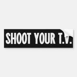 Skjuta din TVbildekal Bildekal