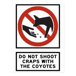 Skjuta inte skitar med prärievargarna som vykort