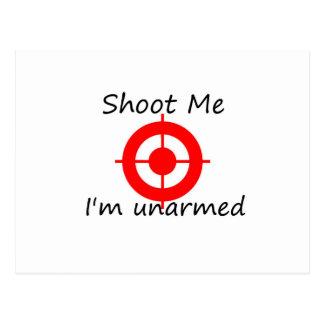 Skjuta mig. Mig unarmed förmiddag Vykort