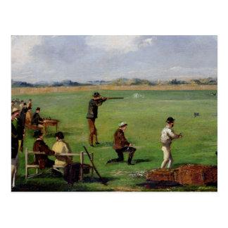 Skjuta (olja på papper) vykort