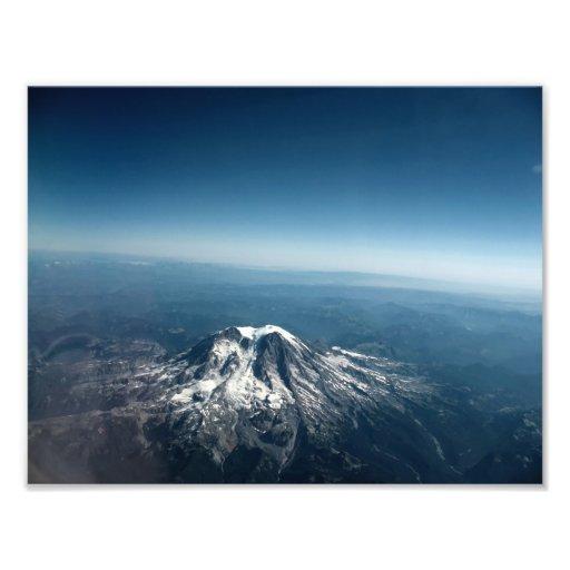 Skjuten antenn för Mt. Adams Fototryck