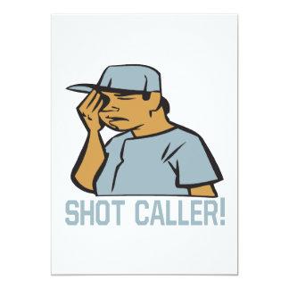 Skjuten Caller 12,7 X 17,8 Cm Inbjudningskort
