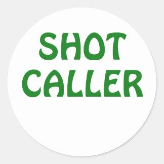 Skjuten Caller Runt Klistermärke