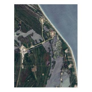 Skjuten Cape Canaveral antenn Vykort