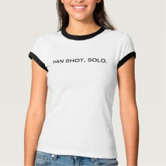 skjuten en, en som endast skjutas t-shirt