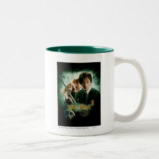 Skjuten Harry Potter Ron Hermione Dobbygrupp Två-Tonad Mugg