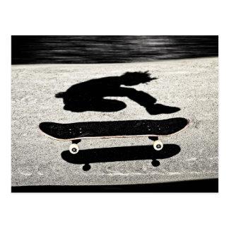 skjuten in skateboard vykort