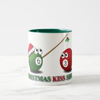 Skjuten mugg för jul kyss