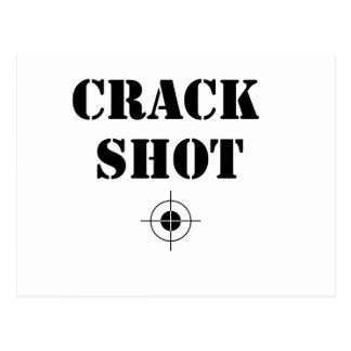 skjuten spricka vykort