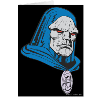 Skjutit Darkseid huvud Hälsningskort