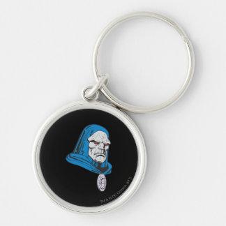 Skjutit Darkseid huvud Rund Silverfärgad Nyckelring