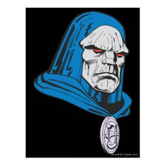 Skjutit Darkseid huvud Vykort