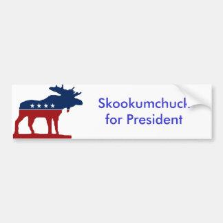 Skkokumchuck för president bildekal