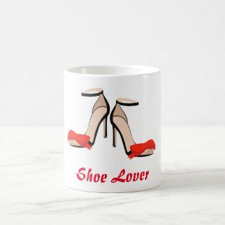Sko älskarehögklackar kaffemugg