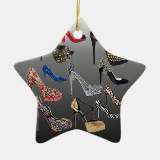 Sko högklackar som Collage skräddarsy Julgransprydnad Keramik