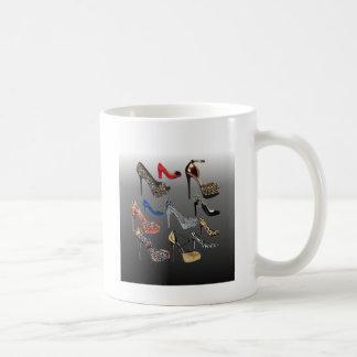 Sko högklackar som Collage skräddarsy Kaffemugg