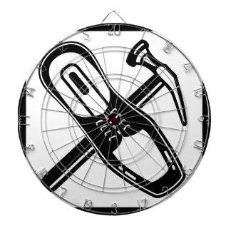 Sko reparerar symbolssvart piltavla