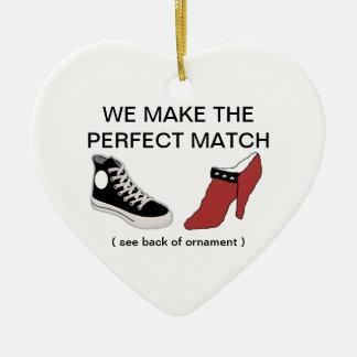 Sko ska dig att gifta sig mig prydnaden julgransprydnad keramik