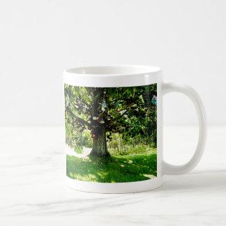 Sko träd kaffemugg