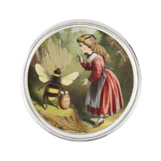 Skog för kruka för honung för flicka för kavajnål