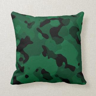 Skog gröna Camo; Kamouflage Kudde