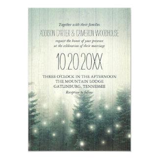 Skogen tänder | lantlig bröllopinbjudan 12,7 x 17,8 cm inbjudningskort