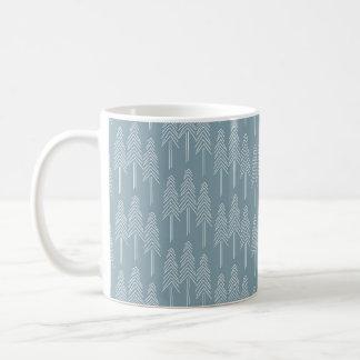 Skoggrästräd - mjuka blått vit mugg