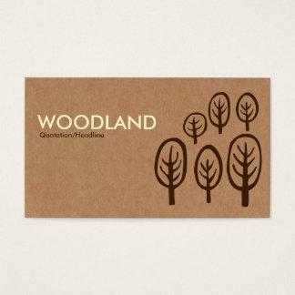 Skogsmark - kräm + Mörkbrunt på kartongen Tex Visitkort