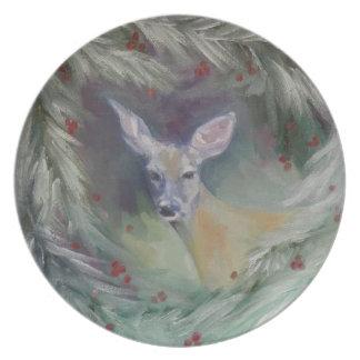 Skogsmarkanden pläterar dinner plate