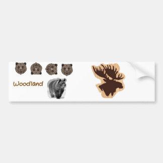 skogsmarkbjörn och älg bildekal