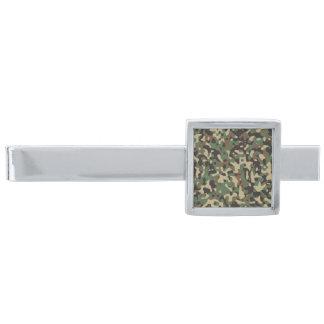 SkogsmarkCamo för silver grön militär kamouflage Slipsnål Med Silverfinish