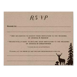 Skogsmarken bruna Kraft skräddarsy bröllop 10,8 X 14 Cm Inbjudningskort