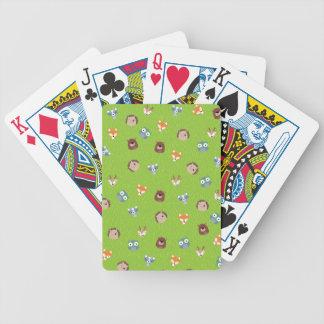 Skogsmarkvänner - hjort för igelkott för spelkort
