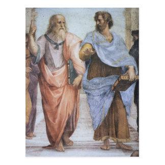 Skola av Athens (specificera - Plato & Aristotle), Vykort
