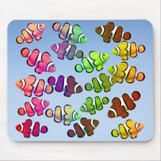 Skola av färgrika Clownfish Mousepad Musmatta