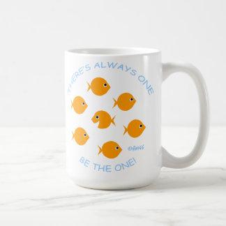 Skola av inspirera lärareMotto för guldfisk Kaffemugg