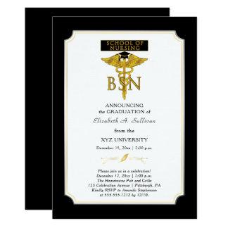 Skola av studenten för sjukvårdsjuksköterska BSN 12,7 X 17,8 Cm Inbjudningskort