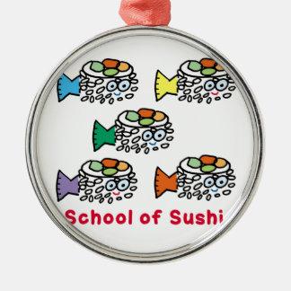 Skola av Sushi Julgransprydnad Metall
