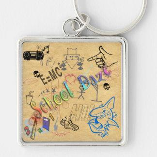 Skola bedövar Keychain Nyckel Ring