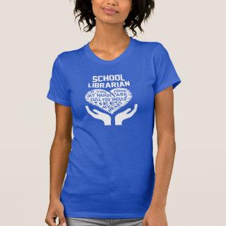 Skola bibliotekarien t shirt