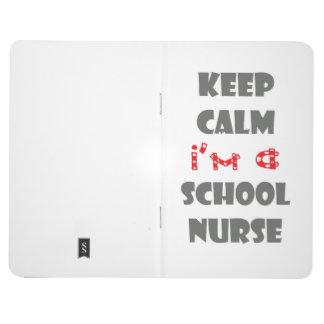 skola den små fodrade journalen för sjuksköterskan anteckningsbok