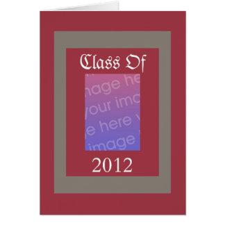 Skola det Crimson N gråa studentenkortet för Hälsningskort