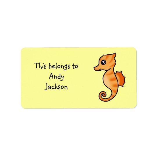 Skola etiketter (seahorsen) adressetikett