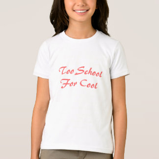 Skola för för coola t-shirt