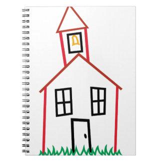 Skola huset anteckningsbok