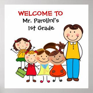 Skola klassrumvälkomnandeaffischen poster