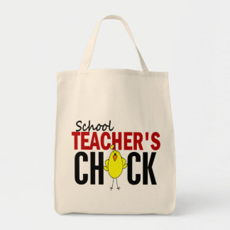Skola lärare chick mat tygkasse