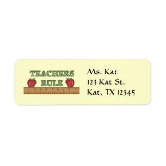Skola lärarereturetiketter returadress etikett