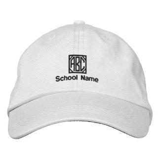 Skola namn, din initialer broderade hatt