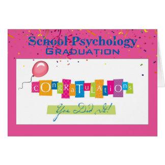 Skola psykologistudentenkortet hälsningskort